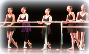 Ballet students from the Christine Liao School of Ballet